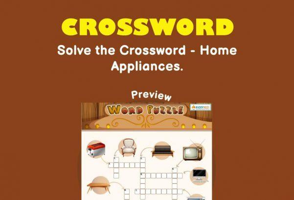 Logic & Puzzles - Crossword: Home appliances