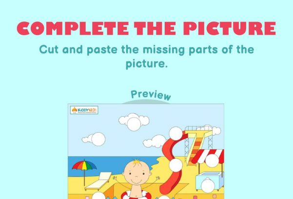 Logic & Puzzles - Complete the picture: Pool boy