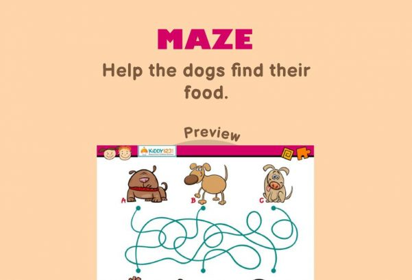 Logic & Puzzles - Maze: Dog