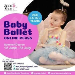 Baby Ballet Free Trial - Summer Course Intake @ Jean Gan Academy of Ballet & Music, Damansara Utama