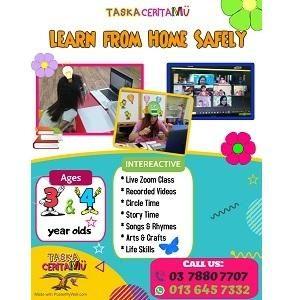 Learn From Home Safely @ Taska Ceritamu, Kelana Jaya