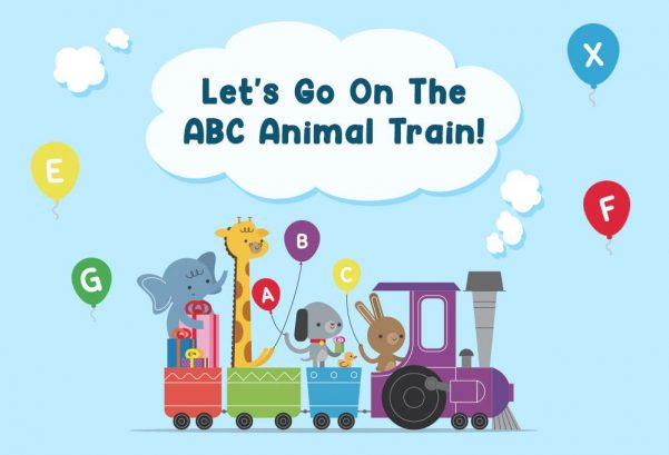 Let's Go On The ABC Animal Train!