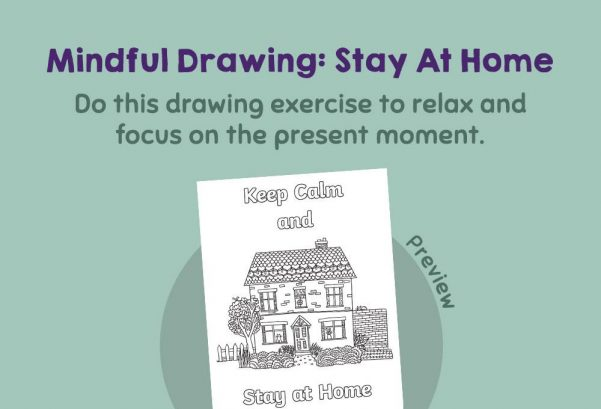 Art - Mindful Drawing: Keep Calm and Stay Home