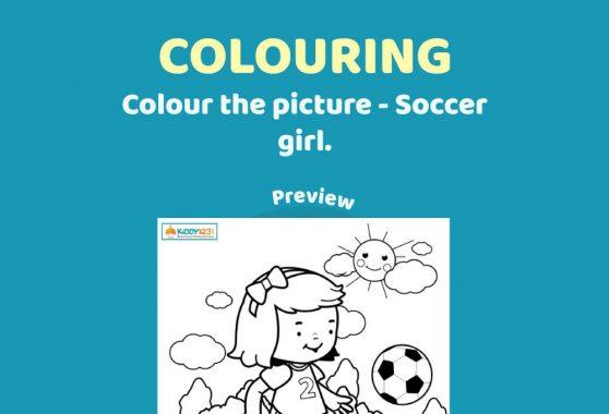 ART - Colouring: Soccer Girl