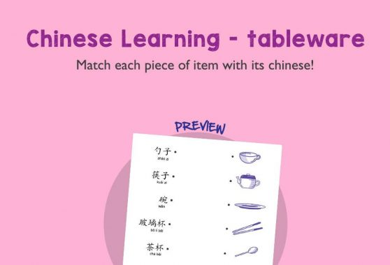 Language - Chinese Learning: Tableware