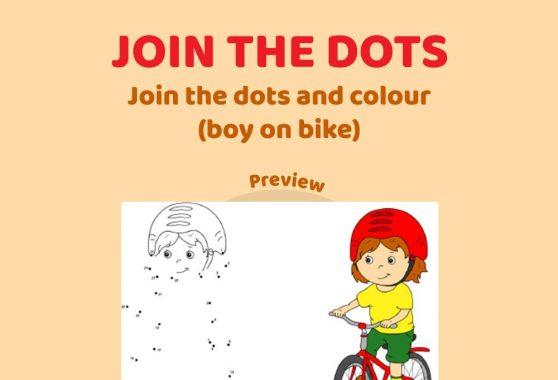 Art - Join the Dots: Boy on Bike