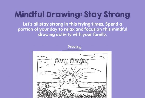Art - Mindful Drawing: Stay Strong