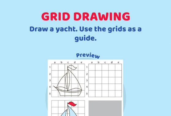 Art - Grid drawing: Yacht
