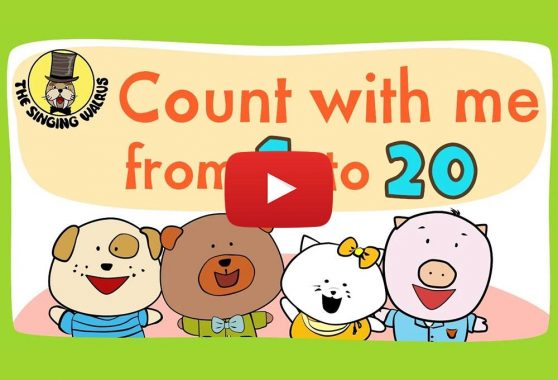 The Singing Walrus: Number song 1-20 for children