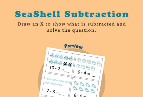Numbers - Seashell subtraction