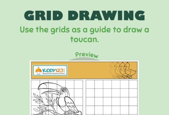 Art - Grid Drawing: Toucan