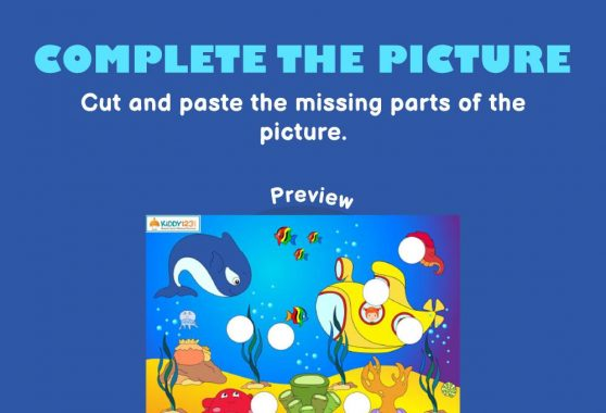 Logic & Puzzles - Complete the picture: Under the sea