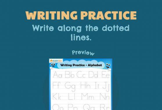 Language - Writing Practice: Alphabet