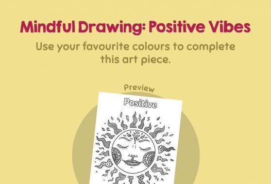 Art - Mindful Drawing: Positive Vibes