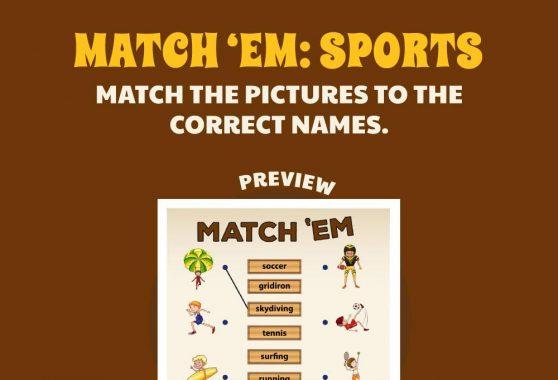 Logic & Puzzles - Match Em': Sports