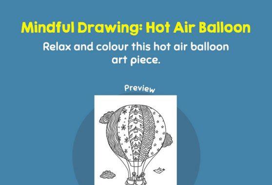 Art - Mindful Drawing: Hot Air Balloon