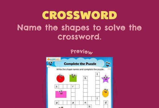 Language - Crossword: Shapes