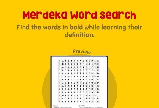 Logic & Puzzles - Merdeka Word Search