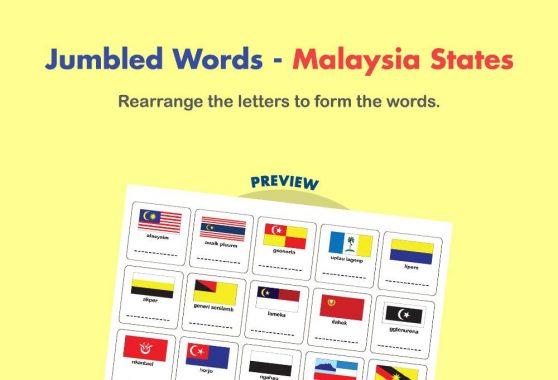 Language - Jumbled Words: Malaysia States
