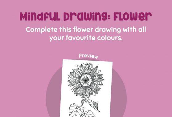 Art - Mindful Drawing: Flower