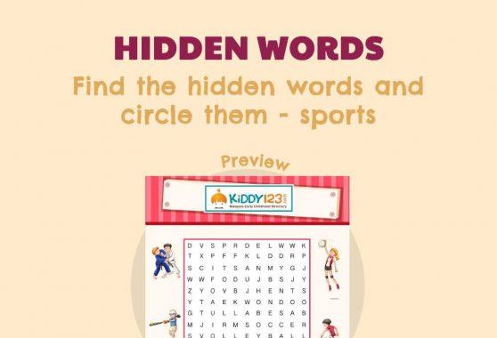 Language - Hidden Words: Sports