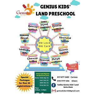 Open Day 2021 @ Tadika Genius Kids' Land, Setia Alam