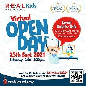 REAL Kids Virtual Open Day (25 Sept 2021)