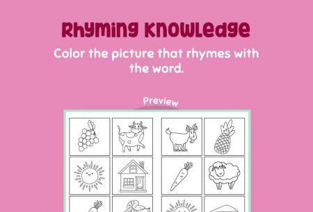 Language - Rhyming Knowledge