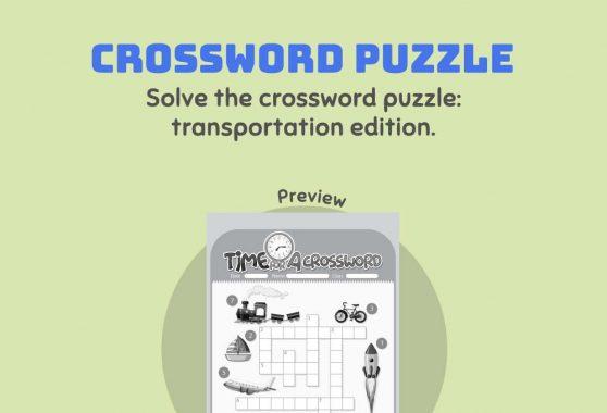 Language - Crossword Puzzle: Transportation