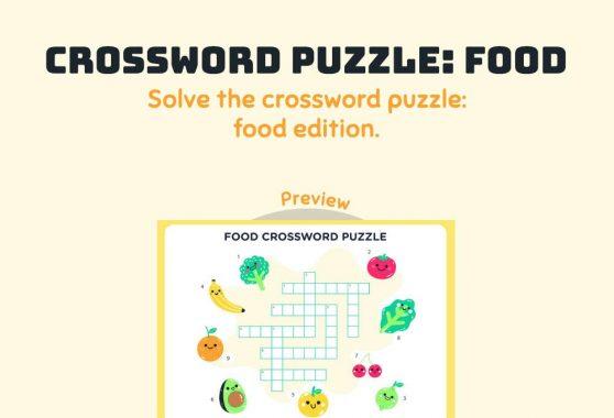 Language - Crossword Puzzle: Food