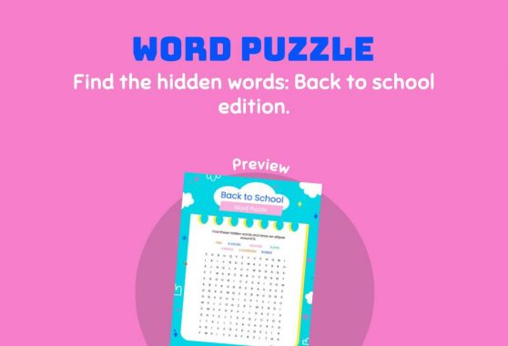 Language - Word Puzzle: Back to School