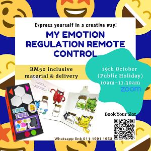 My Emotion Regulation Remote Control Artsy Crafty @ Brainbow Kids, Subang Jaya