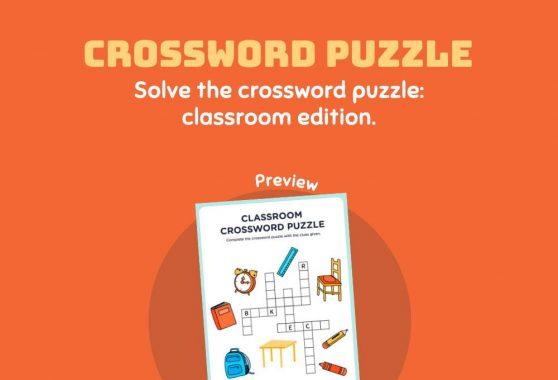 Language - Crossword Puzzle: Classroom