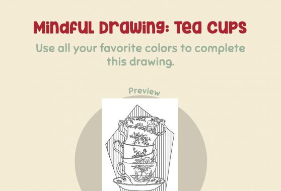 Art - Mindful Drawing: Tea Cups