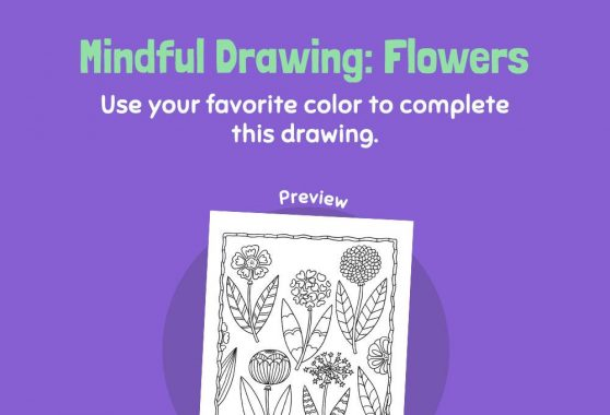 Art - Mindful Drawing: Flowers